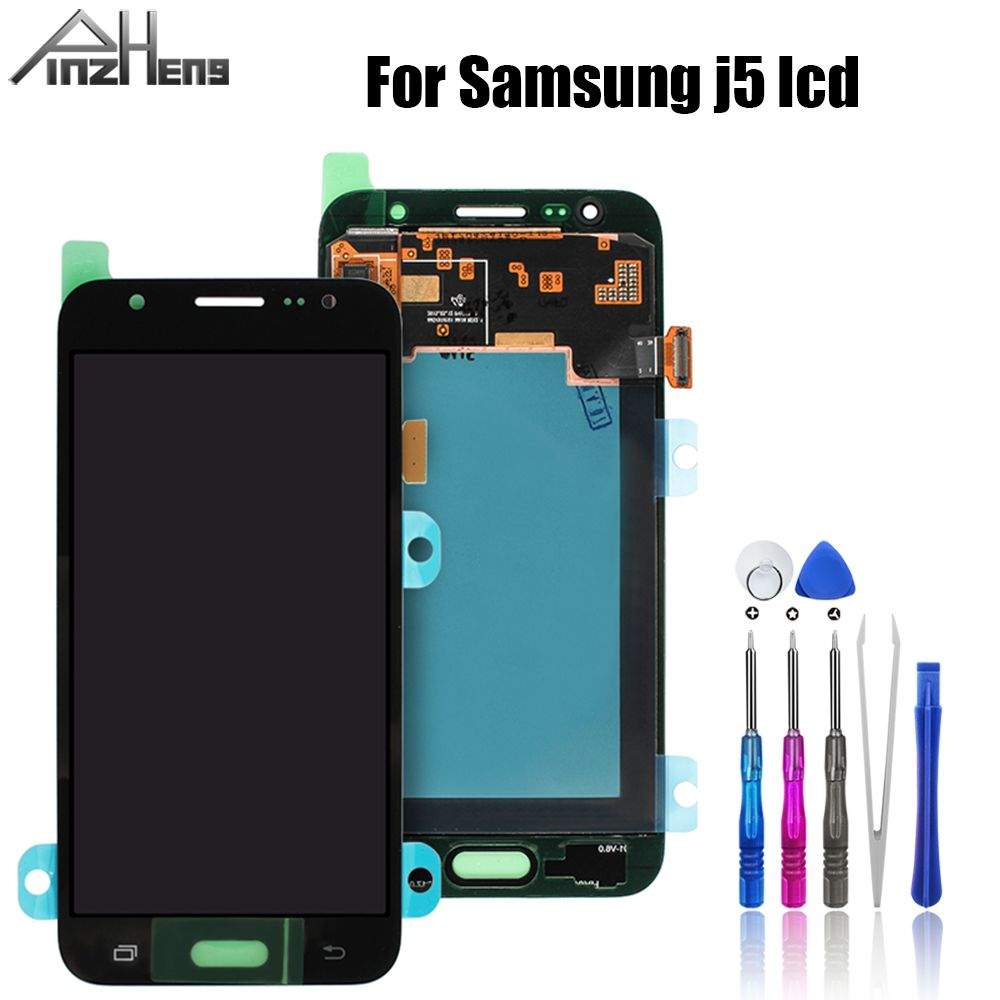 PINZHENG AAAA Quality <font><b>LCD</b></font> For Samsung Galaxy J5 2015 J500 <font><b>J500F</b></font> J500G J500M <font><b>LCD</b></font> Dispaly digitizer assembly For samsung J5 screen image