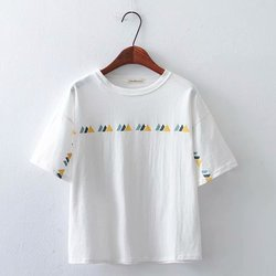 2019 Sommer Stil T Shirt Frauen Kurzarm Oansatz T Hemd Femme Brief Gedruckt Baumwolle casual