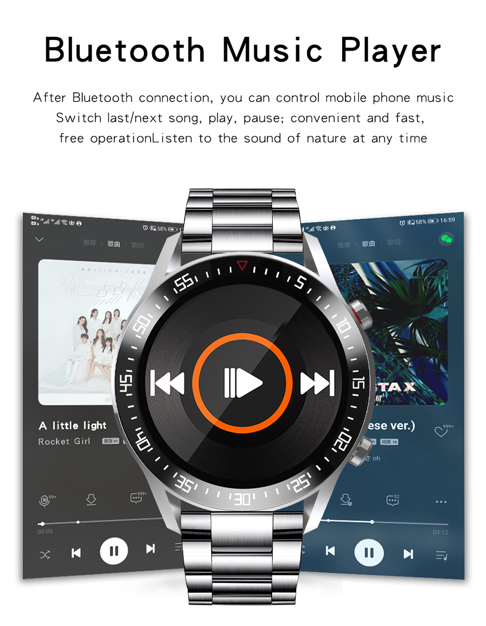 H6aedea5528894935bbbbc4f5e0c377fcC LIGE New Smart watch Men Full touch Screen Sports Fitness watch IP68 waterproof Bluetooth Suitable For Android ios Smart watch