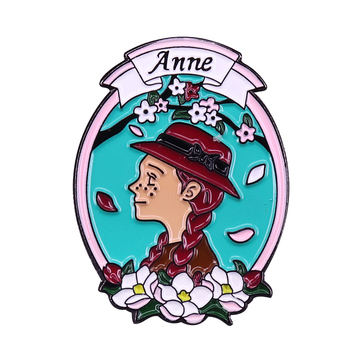 Anne of Green Gables Badge beautiful childhood heroine Enamel Pin L.M. Montgomery bookworm spirits Collections image
