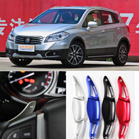tommia 2pcs Steering Wheel Aluminum Shift Paddle Shifter Extension For Suzuki S-CROSS 2014-2018 Car-styling