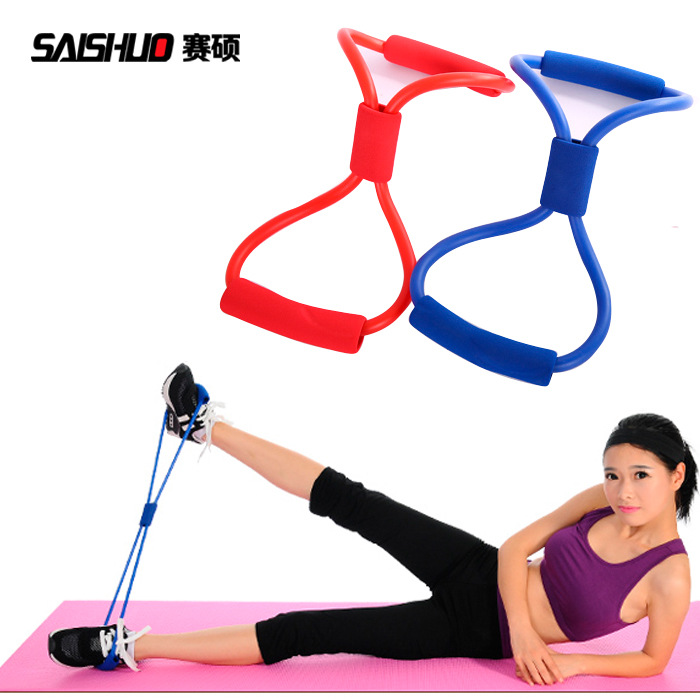 Yoga Supplies 8-Word Pulling Rope Chest Expander Strength Training Chest Tube Tension Band Pull Paster A Generation Of Fat