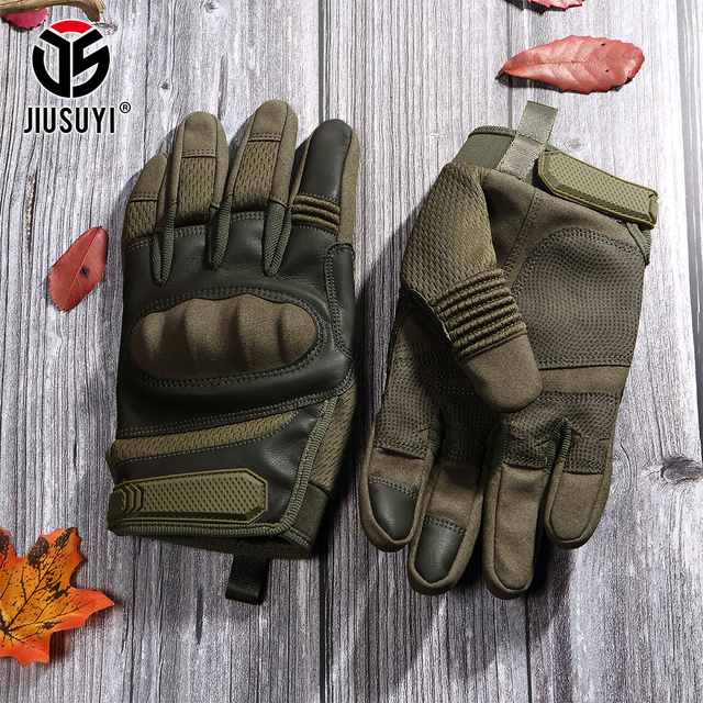 Tactical Military Full Finger Gloves Touch Screen Airsoft Combat Paintball Shooting Hard Knuckle Armor Bicycle Driving Glove Men 4