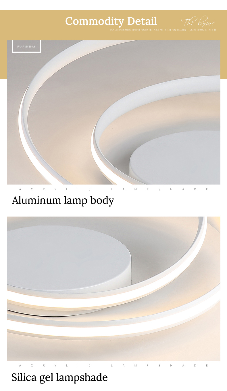 H6aee57cfd42343a99505a2e4149f6171W Modern Ceiling Lights LED Lamp For Living Room Bedroom Study Room White black color surface mounted Ceiling Lamp Deco AC85-265V