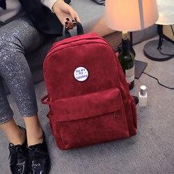 Модный женский рюкзак, бархатная дорожная сумка, новая сумка через плечо для женщин, школьная сумка для девочек-подростков 2019, рюкзак, рюкза...