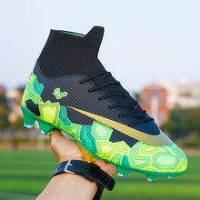 Sneakers Boots Soccer-Shoes Futsal Turf Spikes Indoor Child Soft Long Men Ankle High-Top