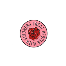 Harry styles pins Treat People With Kindness brooches Pink Circle Round Flower Lapel Gift for fans