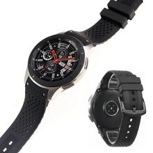 Nuovo stile high end 22 millimetri cinturino in silicone del braccialetto del braccialetto per Samsung Gear S3 S4 Galaxy Orologio 46 millimetri cinturino di vigilanza cinturini
