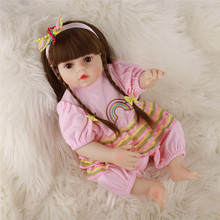 48CM Rebirth Doll Pouting Reborn Baby Doll Realistic Full Body Silicone Babies Newborn Baby Dolls Reborns Toddlers Girl Gifts 23 inch lifelike reborns silicone vinyl full body babies dolls 57 cm realistic newborn doll gold hair reborn girl princess gifts