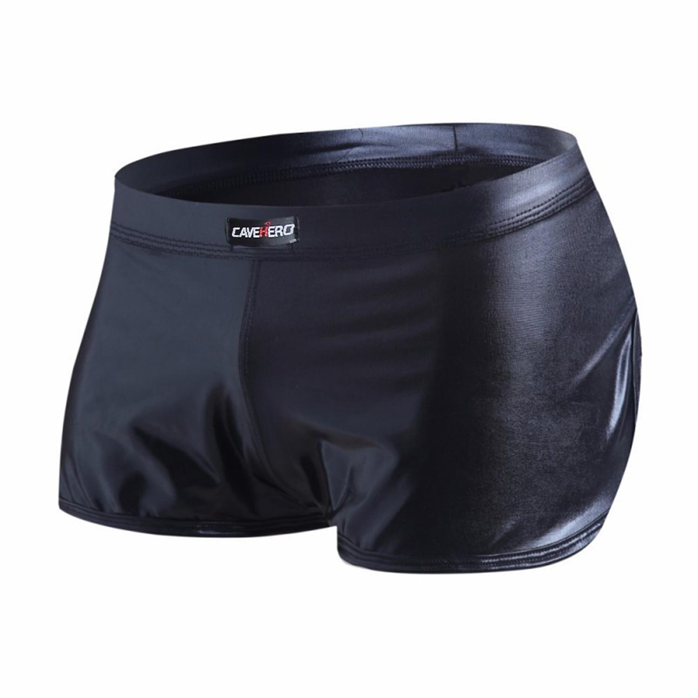 Faux Leather Mens Shorts Gym Clothing Men Shorts Hot Pants Sport Shiny Shorts Fitness Men Clothes Short Pants Men
