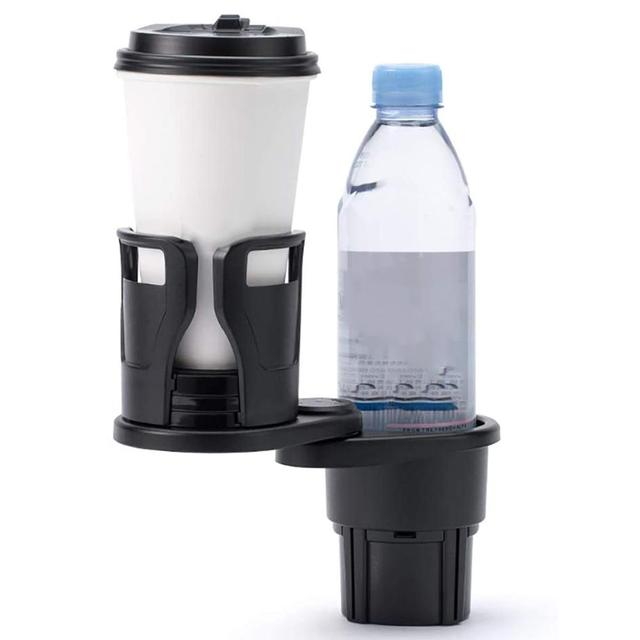 2 in 1 Universal Auto Car Seat Cup Holder Water Bottle Drink Coffee Adjustable Mount Stand Car Drinks Holder Seat Accessories
