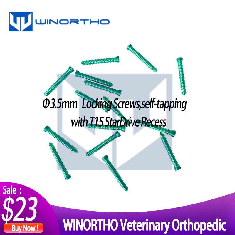 3.5mm Titanium Locking Self Tapping Screws Only For Veterinary Use Animal Orthopedic VET Pet Clinic Cortical Synthes Voi