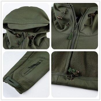 Winter TAD Tactical Softshell Camouflage Jacket Men Shark Skin Army Camo Windbreaker Waterproof Hunting Clothes Military Jackets 6