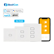 Broadlink TC2S EU WiFi Switch Touch Panel EU Standard Wall Light Switch APP Control By IOS Android Phone Smart Home Automation broadlink tc2 wifi switch touch panel us au standard wall light switch app control via broadlink rm pro smart home automation