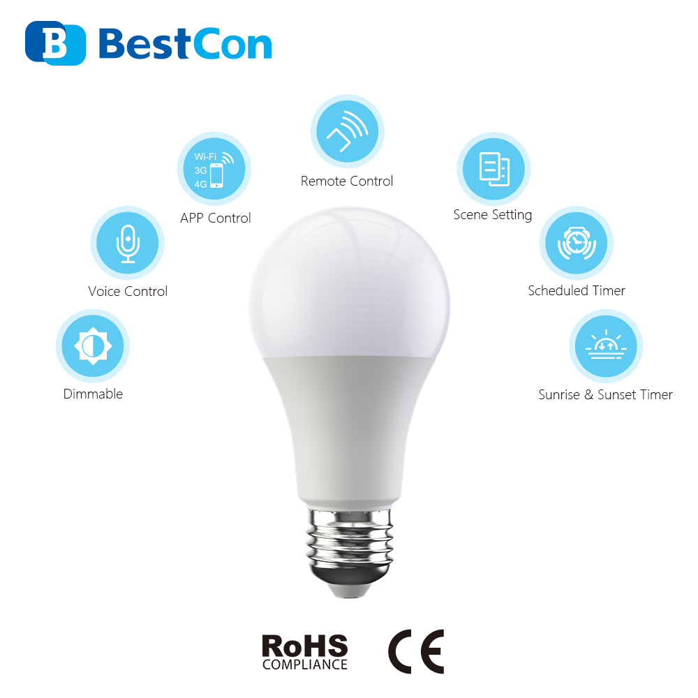 BROADLINK Bestcon LB1 Wi-Fi Smart Bulb Dimmable E27 Light For SMART HOME Works With Alexa And Google Assistant