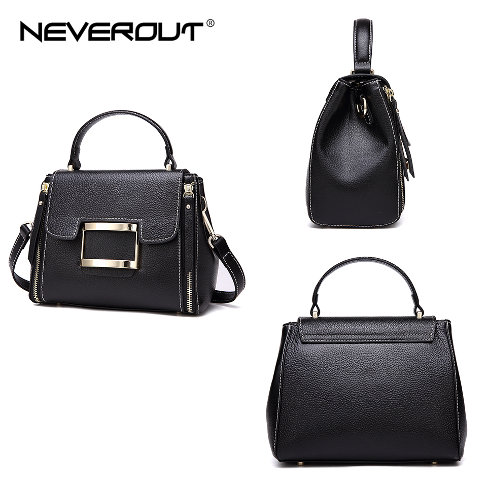NEVEROUT 3 Color 2018 New Bag Style Vintage Lady Shoulder Bags Sac Women Bag Oil Wax Real Leather Female Flap Bags Handbags Tote in Shoulder Bags from Luggage Bags