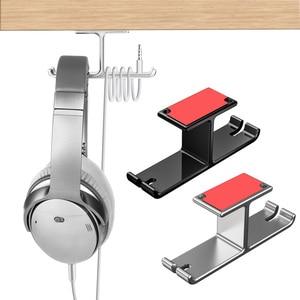 Image 2 - Vococal אוזניות כפולה קולב עמיד אלומיניום אוזניות וו בעל קל להתקין 2 ב 1 אוזניות הר תחת מעמד שולחן מדף