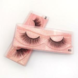 Image 2 - Pestañas postizas de visón Natural, venta al por mayor, 20/30/40/50 Uds., maquillaje a granel