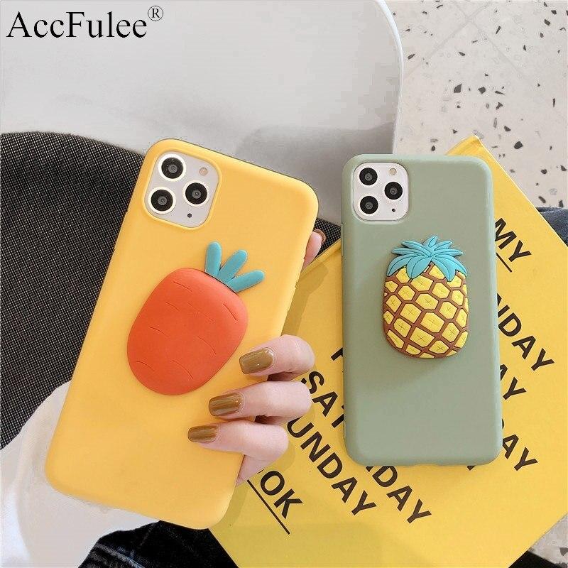 Cute Matte 3D Fruit Pineapple Case For Moto G8 Power G7 Plus G6 Play G6+ G5S E6 Plus E5 E4 Euro Lovely Carrot Soft Cover