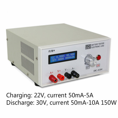 Электронный тестовый тестер емкости аккумулятора, инструмент для зарядки и разряда, блок питания, тест на зарядку 5 А и усилитель 10 А|Запчасти для кондиционера|   | АлиЭкспресс