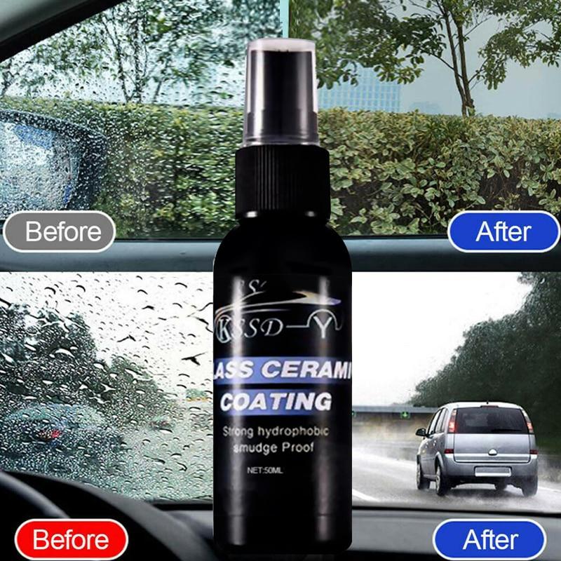 Средство для очистки стекол автомобиля, жидкое керамическое нано-покрытие для лобового стекла, гидрофобное покрытие, 50 мл