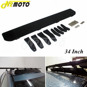 Black Universal Mount Car Wind Screen Roof Racks Air Deflector Kit For Most Cars 34