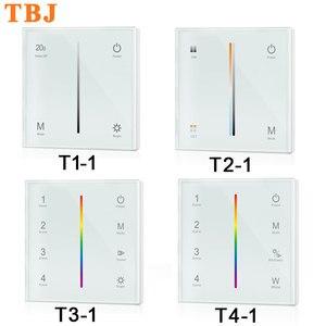 Настенный контроллер-диммер, светодиодный светильник с сенсорной панелью постоянного тока 12 в-24 в для одноцветных/двухцветных/RGB/RGBW