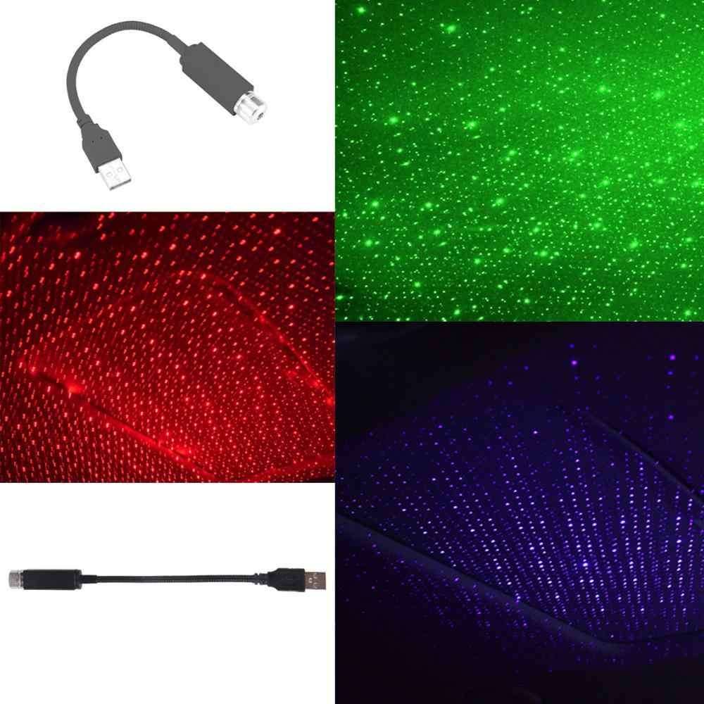 Usb Led Auto Dak Ster Nachtlampje Verschillende Lenzen Projector Interieur Ambient Galaxy Lamp Verstelbare Meerdere Lichteffecten