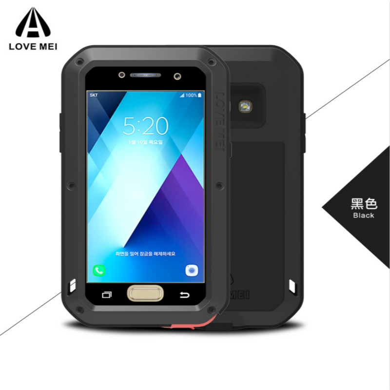 For Samsung Galaxy A3 2017 A320 Case LOVE MEI Shock Dirt Proof Water Resistant Metal Armor Cover Phone Case For Galaxy A5 A520|  - title=