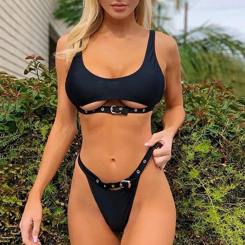 H6aef7f0ba35e40a4978c3217a99ca279b Neon Green High Waist bikini 2019 Adjust Strap Swimsuit women Thong Swimwear Female Two pieces bikini set Brazilian Bathing Suit