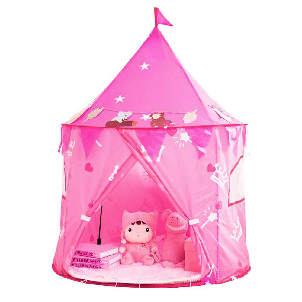 Kids Play House Kids Tent Children Teepee Portable Princess Castle Kids Tents Birthday Christmas Gift 105*135 Cm Baby Tents