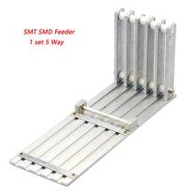 Marke Neue 1 satz 5 Way SMT SMD Feeder SMT SMD komponenten für DIY Prototyp Holen Platz Platzierung Maschine Feeder Rack Manuelle Feed