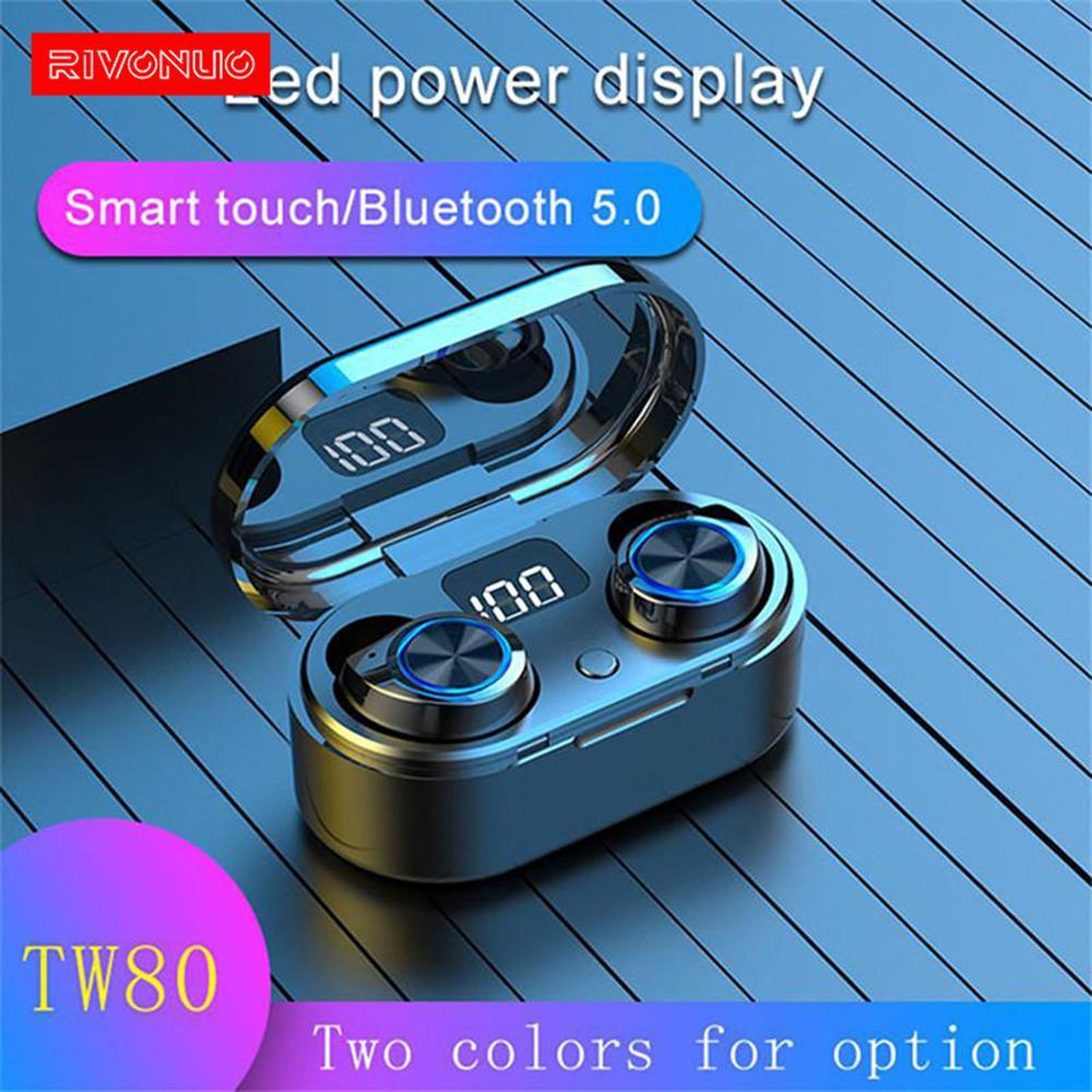Montre Smartwatch casque sport Bt écouteurs étanche bateau Mini TWS sans fil Bluetooth écouteurs avec étui de charge
