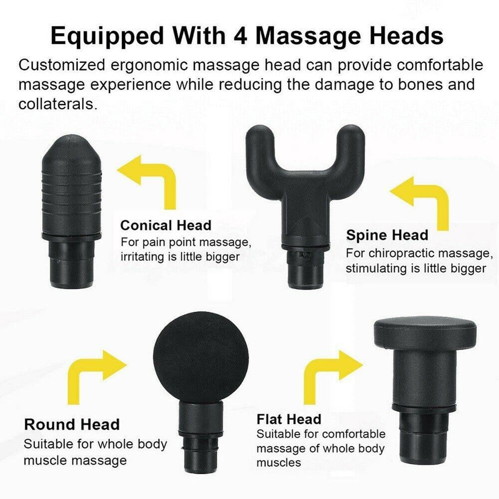Elektrische Spier Ontspanning Massager Deep Tissue Massager Hand held Oefenen Spier Massager Fitness Equipmentping - 2