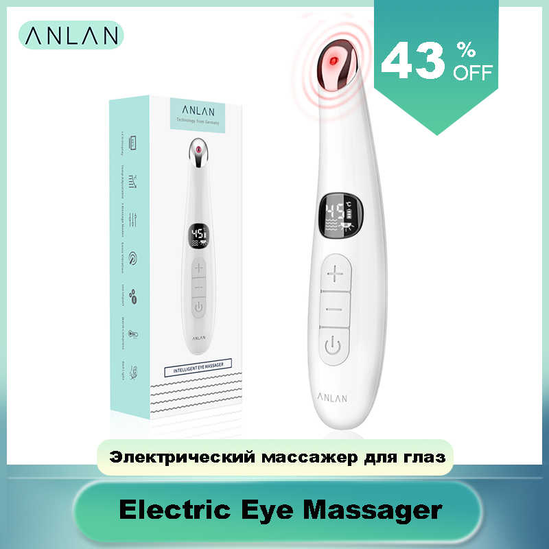 Anlan Elektrische Eye Massager Anti Rimpel Oog Massage Anti Aging Oogverzorging Led Screen Hot Massage Usb Oplaadbare Massage Apparaat