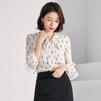 ZHICHU Blouse Shirt women Chiffon Blouses Women 2019 Autumn Fashion Long Sleeve V neck Pink Shirt Office Blouse Slim Casual Tops