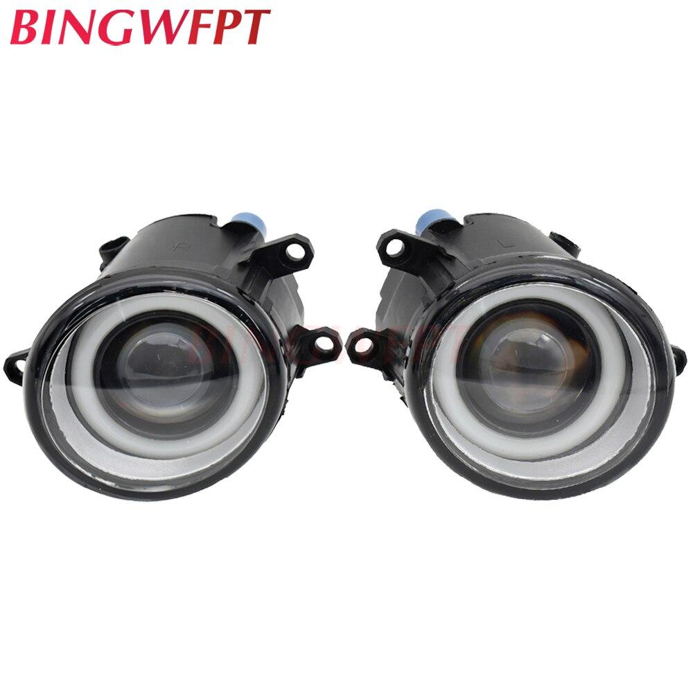 2 pçs led luzes de nevoeiro + anjo olho para toyota corolla 14-16 para toyota auris hatchback nre15 zze15 ade15 zre15 nde15 2007-2010