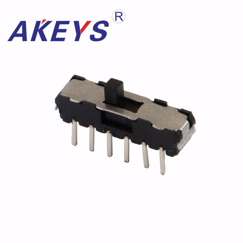 10PCS MSS-42D01 MINI slide switch 4P2T DIP 12 pin 2 position mini toggle switches micro slide switches image