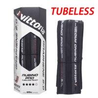 1 para Vittoria Rubino Pro IV G2.0 TLR bezdętkowa opona drogowa 700x25mm pełna czerń składana opona drogowa w Opony rowerowe od Sport i rozrywka na