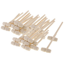 30 pçs marisco lagosta caranguejo maletes martelo de madeira natural crianças brinquedos artesanato pequeno martelo de madeira para projetos de artesanato de couro diy