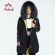Astrid 2021 Winter Nieuwe Aankomst Vrouwen Down Jas Met Een Bontkraag Mode Stijl Met Een Kap Lange Winterjas vrouwen AR-3022