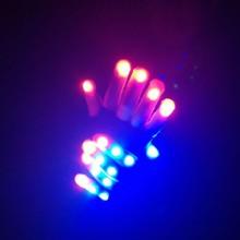 Halloween Children LED Glove Keep Warm Modes Finger Light Toys Party Supply Single