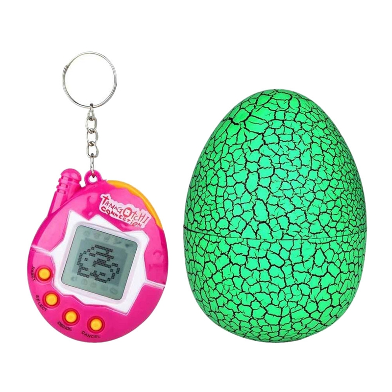 90s Nostalgic 49 Animals In A Single Virtual Cyber For Pet Toy Funny Tamagotchi With Egg(Green)