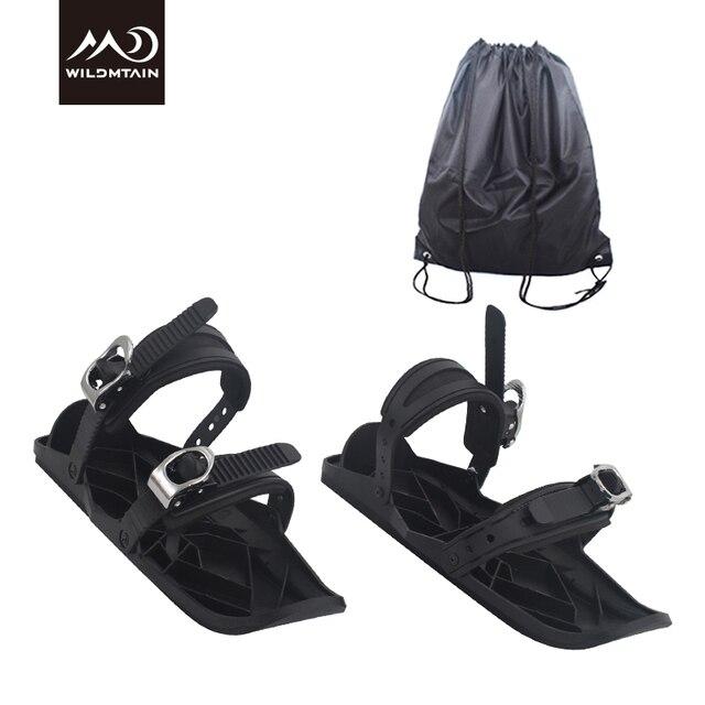 Scarpe Mini Sci Pattini sport esterni Mini sci corti Skiboard Snowblades regolabile Racchette da neve leggera