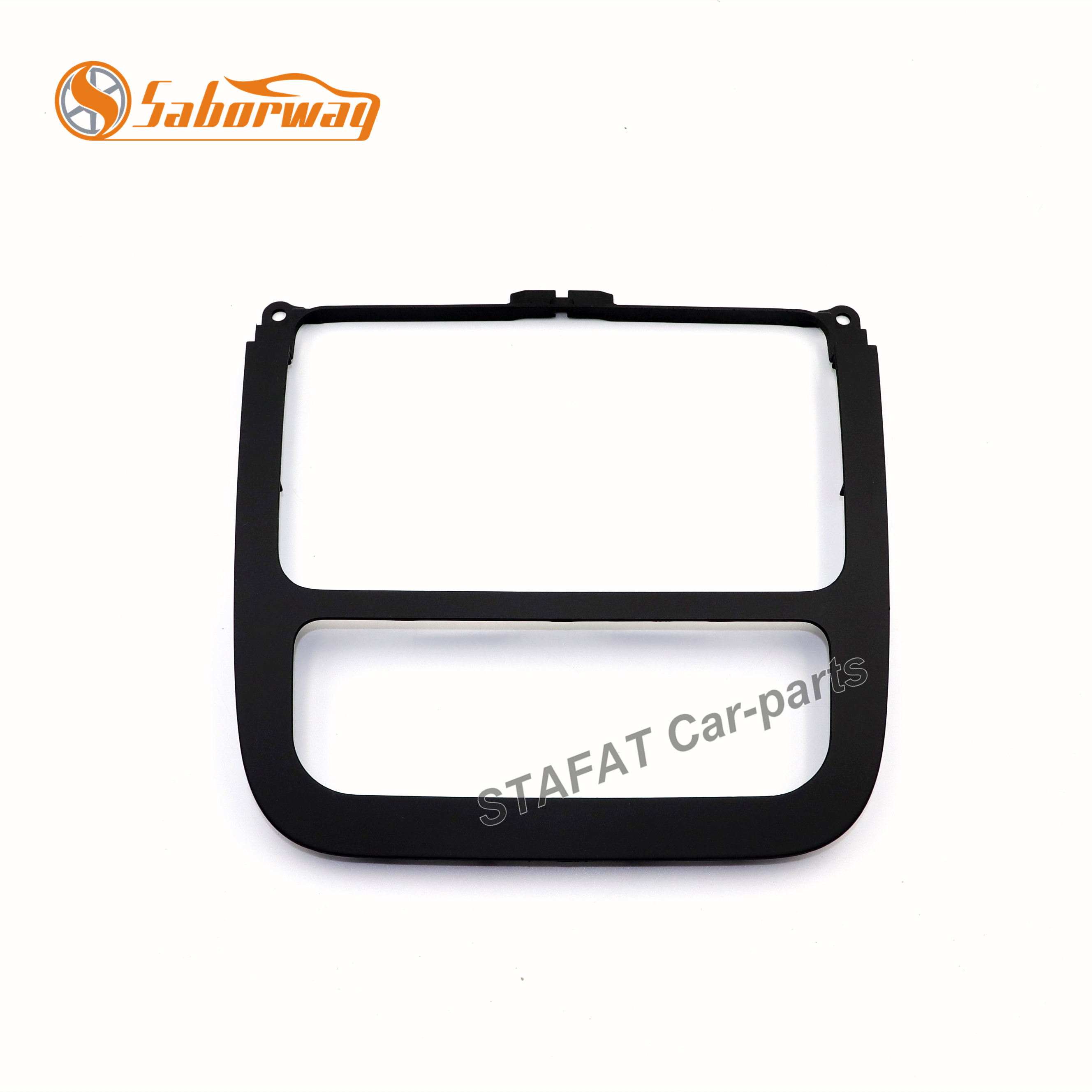 Saborway Black Automatic Air Conditioning Panel CD Panel Surround Radio Trim For Jetta Golf 5 MK5 MK6 Year 2011 1KD 858 069 image