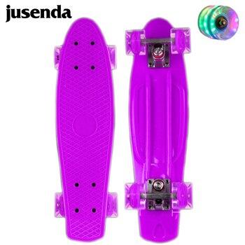 Jusenda-patineta de 22 pulgadas para niños, Mini Cruiser, Longboard, Retro, Penny Board,...