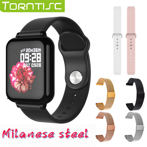 Torntisc Dropshipping B57 Women Smart Watch For Android Apple Watch Heart Rate Blood Pressure Hero Band 3 Smartwatch Men(China)