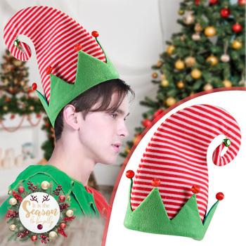 Boże narodzenie kapelusz dziecięcy kapelusz dla dorosłych elastyczny gruby ciepła wiosna elfy czapka Funny Party kostium na boże narodzenie ciepłe boże narodzenie Fedoras tanie i dobre opinie ISHOWTIENDA CN (pochodzenie) Unisex COTTON Poliester SSSS Nowość Cartoon