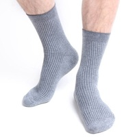 Plus Size EU 48 49 50 51 52 winter Men cotton Socks 6 Pairs Business formal office Tube Crew Man Socks Comfortable Socks white