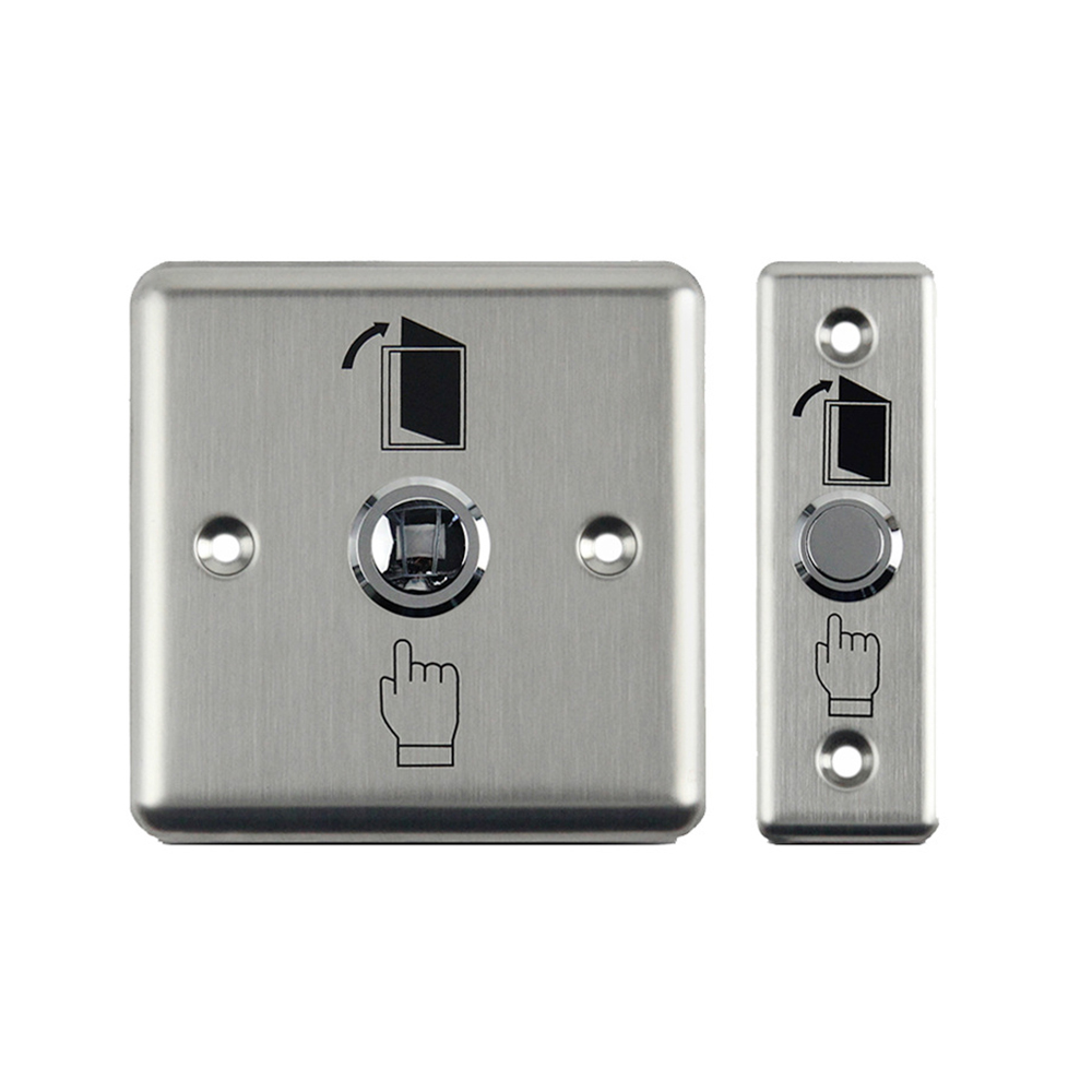 Metal Door Exit Button Stainless Steel Switch Push Release Alloy 86 For Home Access Control Lock System